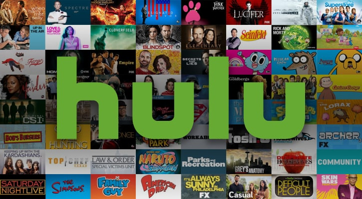 Different shows available on Hulu