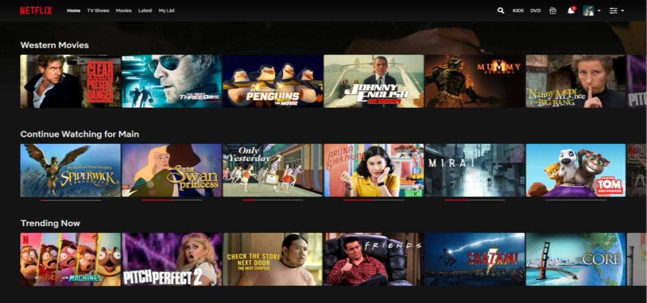 Netflix movies and shows