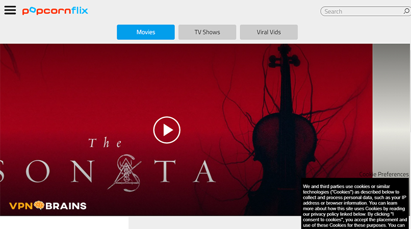Popcorn Flix tv streaming site