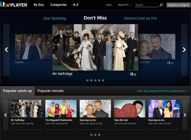 iTV Hub Homepage