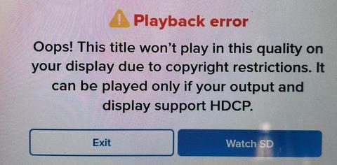 Vudu streaming error
