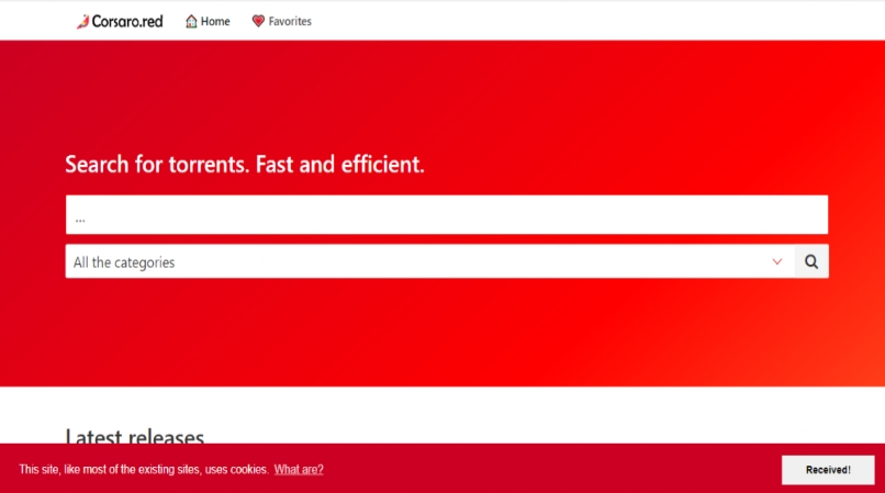 Corsaro Red homepage