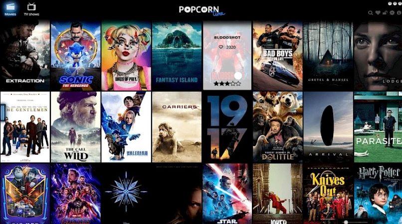 Popcorn Time main screen