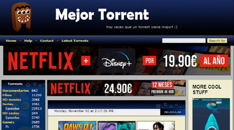 Best Torrent homepage