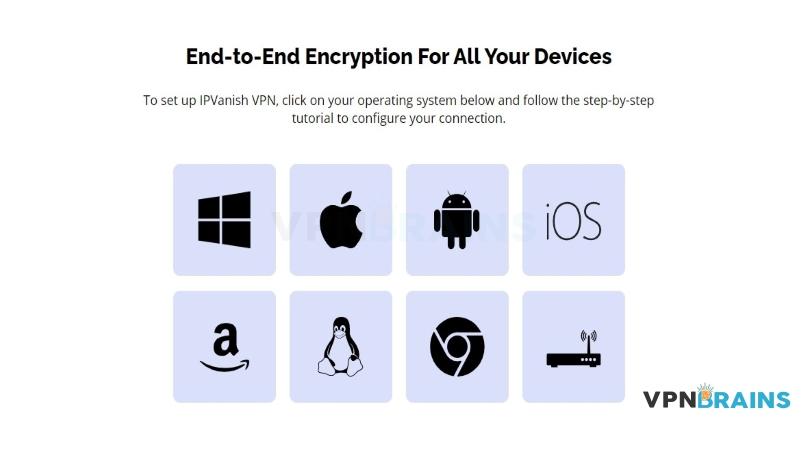 IPVanish device compatibility